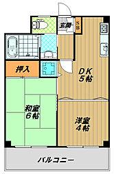 エガール長田[2階]の間取り