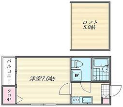 ペア箱崎駅南I[1階]の間取り