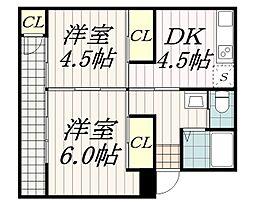 ハイツ松籟[2階]の間取り