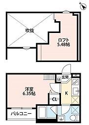 南海線 堺駅 徒歩10分の賃貸アパート 2階1Kの間取り