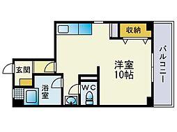 東福岡ビル[301号室]の間取り
