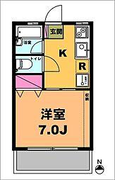 月村マンションNo4[1階]の間取り