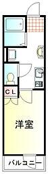 東武東上線 鶴ヶ島駅 徒歩7分の賃貸アパート 1階1Kの間取り