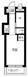 スカイコート横浜港南台 2階ワンルームの間取り