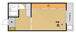 河島マンション[4階]の間取り
