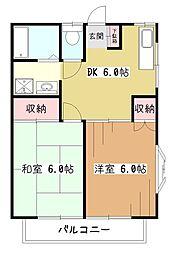 メゾンソレイユI[2階]の間取り