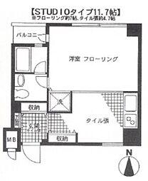 東京都品川区東品川3丁目の賃貸マンションの間取り