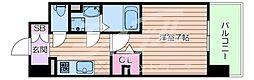 JR大阪環状線 森ノ宮駅 徒歩7分の賃貸マンション 1階1Kの間取り