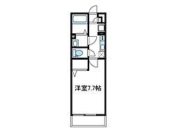 神奈川県相模原市南区東林間3の賃貸アパートの間取り