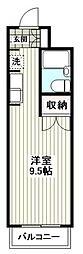 東急田園都市線 青葉台駅 バス10分 中谷都下車 徒歩2分の賃貸マンション 2階ワンルームの間取り