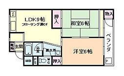 村本ビルマンション[4階]の間取り