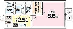 エルクレールEST1[2階]の間取り
