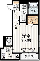 Hebel Life Miyamae 1階1Kの間取り