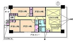 リバーガーデン福島 S棟[12階]の間取り