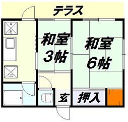 [一戸建] 埼玉県所沢市東町 の賃貸【/】の間取り