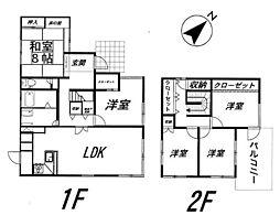 [一戸建] 福岡県福岡市東区みどりが丘2丁目 の賃貸【福岡県 / 福岡市東区】の間取り