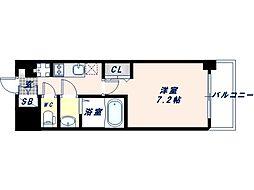 Osaka Metro御堂筋線 昭和町駅 徒歩3分の賃貸マンション 9階1Kの間取り