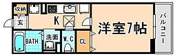 兵庫県川西市加茂2丁目の賃貸アパートの間取り