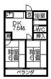 清風荘[102号室]の間取り