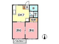 リッチネス図子山 B[202号室]の間取り