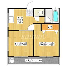 近藤ハイツ西[3階]の間取り