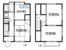 [テラスハウス] 神奈川県厚木市三田 の賃貸【/】の間取り