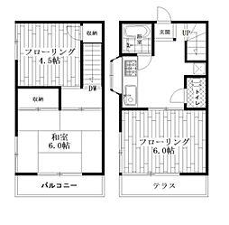[テラスハウス] 東京都中野区大和町2丁目 の賃貸【/】の間取り