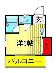 ハイツオクヤマ[2階]の間取り