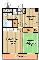 神奈川県相模原市中央区横山2丁目の賃貸マンションの間取り