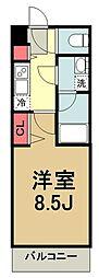 都営三田線 蓮根駅 徒歩10分の賃貸マンション 3階1Kの間取り