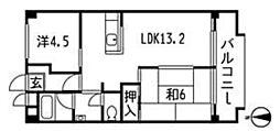 東京都杉並区今川2丁目の賃貸マンションの間取り