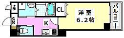 阪急京都本線 南茨木駅 徒歩7分の賃貸マンション 1階1Kの間取り