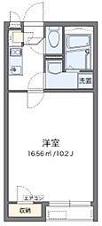 東武東上線 新河岸駅 徒歩16分の賃貸アパート 1階1Kの間取り