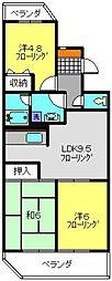 神奈川県横浜市旭区二俣川1丁目の賃貸マンションの間取り