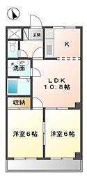 愛知県日進市赤池3丁目の賃貸マンションの間取り
