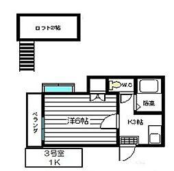 ピアハイム須玖[203号室]の間取り