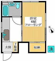 東京都渋谷区西原1丁目の賃貸アパートの間取り