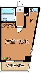 東京都杉並区上高井戸1丁目の賃貸マンションの間取り