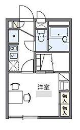 小田急小田原線 生田駅 徒歩22分の賃貸アパート 1階1Kの間取り
