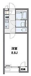 小田急小田原線 柿生駅 徒歩25分の賃貸アパート 1階1Kの間取り