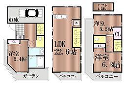 [一戸建] 東京都品川区豊町2丁目 の賃貸【/】の間取り