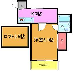 ノワール菅野[207号室]の間取り