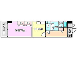 大阪府大阪市北区天満2丁目の賃貸マンションの間取り