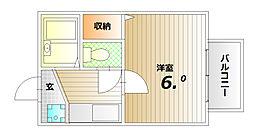 パルファン蓮宮[1階]の間取り
