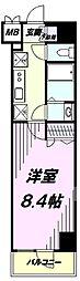 多摩都市モノレール 上北台駅 徒歩1分の賃貸マンション 4階1Kの間取り