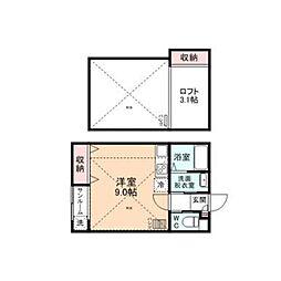 First Square[B203号室]の間取り