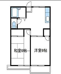 神奈川県綾瀬市寺尾西1丁目の賃貸アパートの間取り
