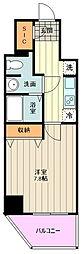 JR中央線 荻窪駅 徒歩14分の賃貸マンション 5階1Kの間取り