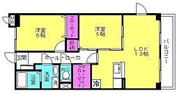 グランド・サン・フローラM[3階]の間取り