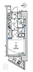 西武池袋線 椎名町駅 徒歩6分の賃貸マンション 3階1Kの間取り